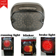 Motorcycle Smoked Lens Turn Signals Tail Rear LED Light Brake For Dyna RoadGlide