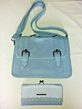 Womens Light Blue Handbag Shoulder Bag Authentic With Matching Purse Atmosphere