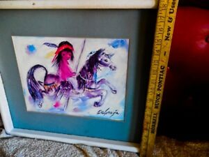 Ted DeGrazia A Merry Little Child on Carousel ride 20 x 17 in. 1990 Gallery Art