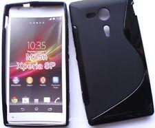 Pour Sony Xperia SP , M35h étui/housse coque souple S-Line silicone couleur Noir