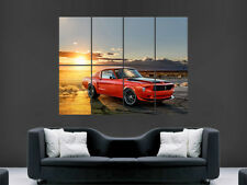 FORD MUSTANG 1968 CAR POSTER SUNSET DESERT RED GIANT WALL ART PICTURE PRINT