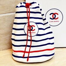 Chanel Stripes Spring Make up Pouch Drawstring Bag VIP gift BN