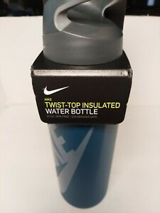 New Nike 32 OZ Stainless Steel Twist top Bottle Insulated Gray
