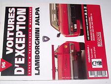 µµ Voitures d'Exception n°96 Poster 4 pages Lamborghini Jalpa  CARACCIOLA