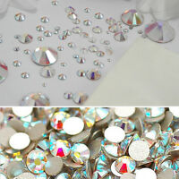 1440 Pcs DIY Art Flatback AB Crystal Pixie Nail Sequins Mini Rhinestone Colours