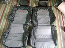 Custom 1991-1999 Mitsubishi 3000GT/Stealth Genuine Leather Seat Cover Black/Grey