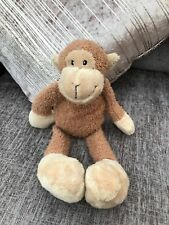 """Tesco Monkey Soft toy Plush Comforter Soother  Brown Cuddle Me Friends 14"""""""
