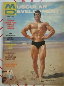 VINTAGE MUSCULAR DEVELOPMENT MAGAZINE RODRIGUE PICARD CLARENCE ROSS JUNE 1966