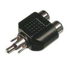 Adaptateur Connecteur Audio 1 RCA Mâle vers 2 RCA Femelle Doubleur - Neuf