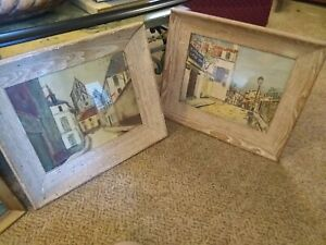 Vintage Maurice Utrillo V. prints signed/framed, Very collectable and rare !!!!