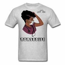 WoodyEpps Women African American Nurse Life Classic T-Shirt Plus Sizes Available