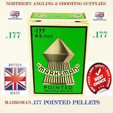 100 x Marksman .177 Pointed Airgun Pellets, Air Gun Pistol, Rifle, Target, Hunt