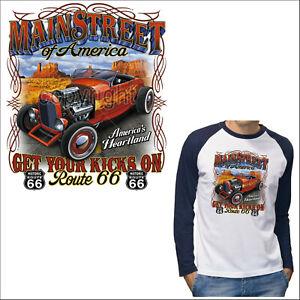 Hot Rod T-Shirt Langarm Auto american vintage Roadster US-Car *1260 LS