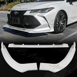 For 2019-2021 Toyota Avalon STP-Style Painted White Front Bumper Spoiler Lip 3pc