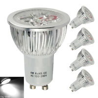 4 Pack GU10 6W=50W LED Bulbs Cool White Reflector Lamp Spotlight Spot Bulb Light