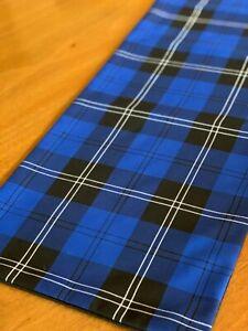 RAMSAY NEW BLUE TARTAN TABLE RUNNER - LONGER LENGTH