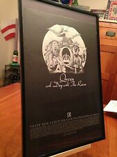 """4 Big 11X17 Framed Original Queen """"A Day At The Races"""" Lp Album Cd Promo Ads"""