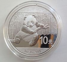 2014 argent.999 Panda Chinois 1oz silver bullion coin-Chine 10 Yuan