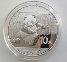 2014 Silver Chinese Panda 1oz .999 Silver Bullion Coin - China 10 Yuan