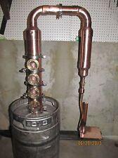 Hillbilly Moonshine e85 water still 4 section bubble cap flute column