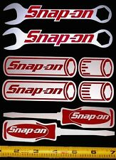 Snap On Sticker Decal Set1! Wrenches,Sockets,Screw Drivers! HQ Red/Silver! em