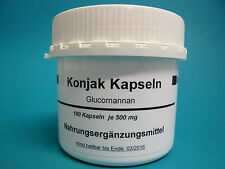 Konjac 180 Kapseln (100g/19,88 €) Glucomannan  Konjak, Konjackapseln