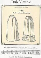 Motivi di sezione truly Victorian TV 221: 1878 underskirt