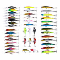 43pcs/set Mixed Fishing Lures Minnow Hard Bait Crankbait Bass Tackle Wobbler