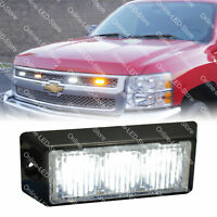 3W White LED Strobe Warning Grille Lights for Cars Trucks Emergency Vehicles