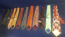 Lot 11 Silk Ties Garcia Barneys Huntington CR Zanzara Izod Tommy Bahama Butti VG