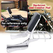 Krator Sissy Bar Backrest Motorcycle Passenger Seat Pad For 2001-2008 Honda Shadow Spirit 750 VT750