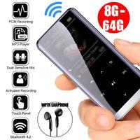 64GB bluetooth MP3 Player HIFI Sport Music Speakers MP4 Media FM Radio Recorder