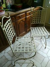 CHAISES EN FER FORGé   1 lot de 2