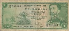 One Ethiopian Dollar Bill with Haile Selassie (N° 389801)