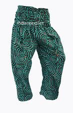 INDIAN GREEN COTTON JALEBI PRINT YOGA PANT WOMAN TROUSER ALI BABA BOHO HIPPIE