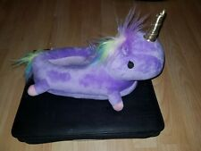 Einhornschuhe Unicorn Pantoffeln flauschig Plüsch Puschen Rutschfest Gr. 36 - 39