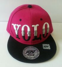 New YOLO Adjustable Snapback Hat Hip Hop You Only Live Once Cap Black Pink
