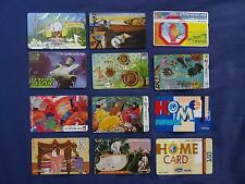 LOT OF PHONE CARDS 12 ISRAEL TELECARD BEZEQ 20 120 150 250 UNITS Collection