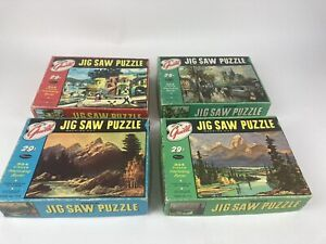 Vintage Lot of 4 Whitman, Guild 304 pc. Jig Saw Puzzles