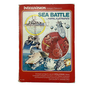 Intellivision Sea Battle Mattel Game Boxed With Instructions & Control Overlays