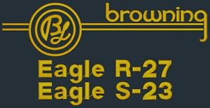 Browning Eagle R27 / S23 Signature Series Black Dust Cover