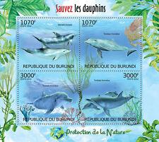 Save the Dolphins / Nature protection m/s Burundi Sc.1119 Mnh #Bur12405a