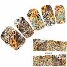 Tattoo Nail Art Tigermuster Afrika Wildnis Aufkleber Nagel Sticker