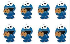 20pcs Cartoon Sesame Enamel Metal Charms Pendants DIY Jewelry Making