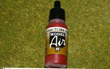 Vallejo Modelo Aire Rojo Fuego 71084 Acrílico Aerógrafo Pintura 17mls