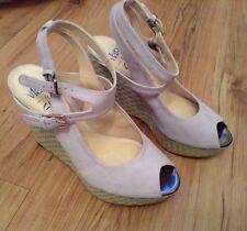 Nuevo 🌹 Clarks 🌹 Sz 5 Mary Portas La plataforma de cuña de ante Amelia Lila Sandalias Zapatos