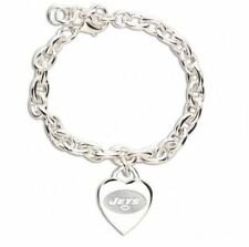 NEW YORK JETS HEART CHARM BRACELET NEW & OFFICIALLY LICENSED