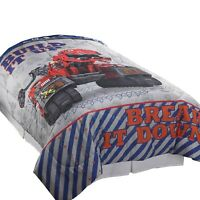 DINOTRUX TWIN-FULL COMFORTER - Build It Up Contruction Dinosaurs Bedding