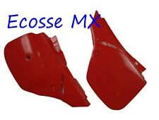 Honda CR125 CR500 1989-1990 UFO Side Panels RED 2611 061 Blood Red