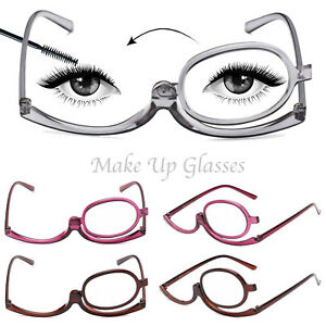 Folding Women Makeup Magnifying Reading Flip Make-up Eye Glasses Eyeglasses Care